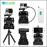 WoCase GoPro Automatic Motorized Rotating Stabilizer Pan Tilt (Horizontal 230°Max/2.5rpm(15°/Sec) and Vertical 60°Max/1.5rpm(15°/Sec)) with Remote Control and Power Bank for Devices (Tripod Compatible, better than Time Lapse Rotor) (Compatible with ALL GOPRO, SONY, CONTOUR, HTC Action cameras, iPhone 6/6 plus/5s/5/4s/4 Samsung Galaxy/Note Series)