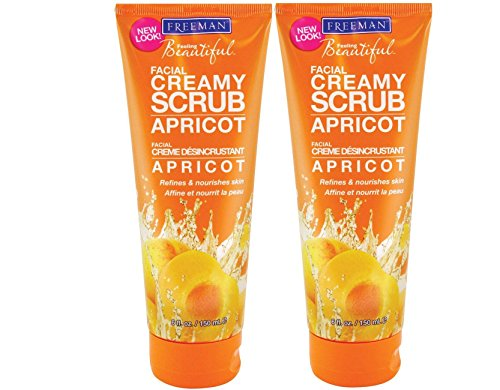 Freeman Feeling Beautiful Facial Creamy Scrub Apricot 6 Oz (150 Ml) Set Of 2