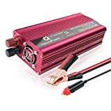 2000W Car Power Inverter,Mesllin DC 12V to AC 110V Modified Sine Wave Converter with 2 AC Outlets and 5A USB Charging Ports Adapter Charger for Smartphone, Laptops, Tablets