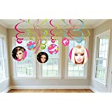 Barbie 'All Doll'd Up' Swirl Decorations (12pc)