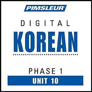 Korean Phase 1, Unit 10 Audiobook