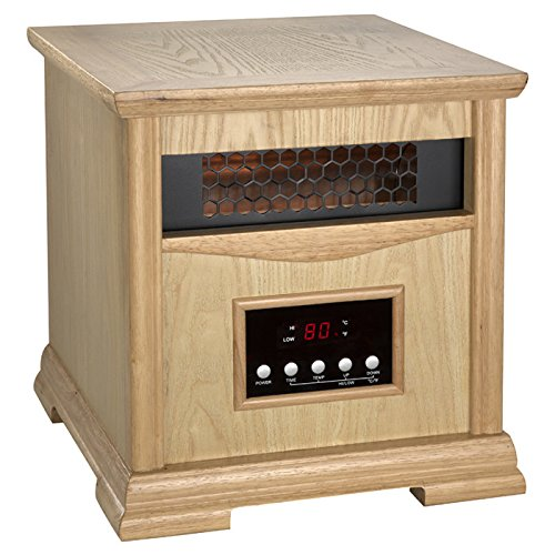 Dynamic 1,500 Watt Portable Electric Infrared Cabinet Heater with automatic overheat protection, flexible and portable quality in Finish Light Oak (Cg Propane Cabinet Heater compare prices)