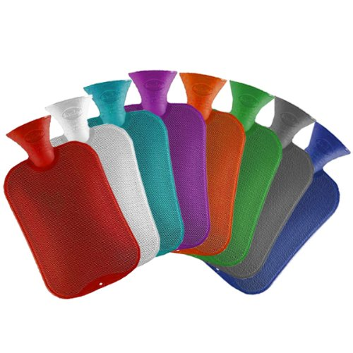 Classic Hot Water Bottle (Assorted Colors) hot water bottle by Fashy (1) (Hot Water Bottle English compare prices)