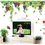 Decals Arts Vine Grapes 2 Sheet Sticker On The Wall For Home Decoration
