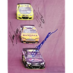 Buy *3X AUTOGRAPHED2013 Jeff Gordon Marcos Ambrose Paul Menard On-Track 8X10 NASCAR Glossy Photo by Trackside Autographs