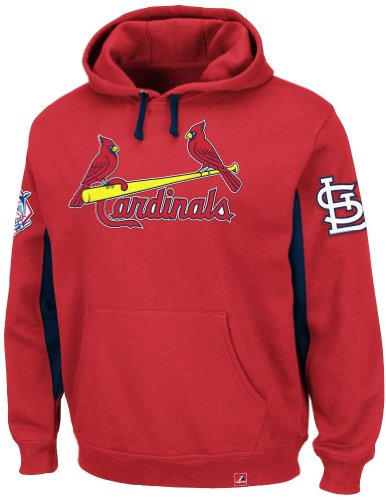 "St. Louis Cardinals Majestic MLB ""Major Play"" Hooded Sweatshirt - Red at Amazon.com"