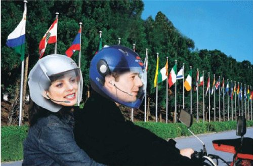 Shark Shkintercom Helmet To Helmet Motorcycle Intercom Headsets Rider To Passenger. Easy Install