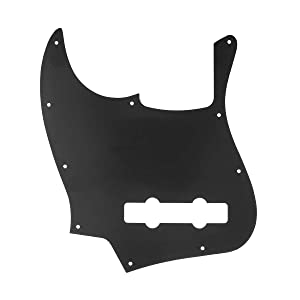 Musiclily Pro 10-Hole Contemporary J Bass Pickguard for Fender Jazz Bass Mexican 5-String, 3Ply Black (Color: 3Ply Black)