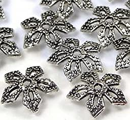 Smith Beads 25 Silver Pewter Filigree Bead Caps 11mm Lead-Free