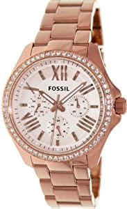 Fossil Women's Cecile AM4483 Rose-Gold Stainless-Steel Quartz Watch with Rose-Gold Dial