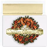 Masterpiece Studios Boxed Cards, 18-Count, Christmas Wreath (847900)
