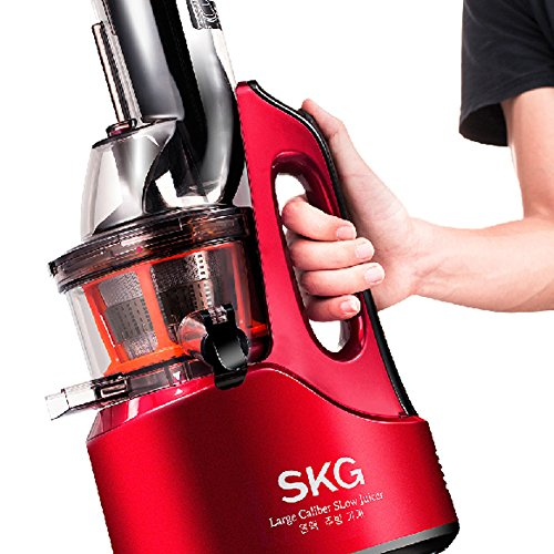 SKG Wide Chute Anti-Oxidation Slow Masticating Juicer (240W AC Motor, 60 RPMs, 3