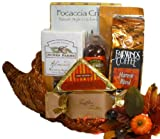 Delight Expressions ™ Cornucopia of Cheer Holiday Thanksgiving Gourmet Food Gift Basket with Meat and Cheese