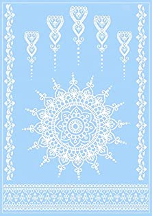 buy Henna Tattoo White Lace Authentic Temporary Tattoos Armbands Bracelets Body Art