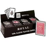 1 Dozen Royal 100% Plastic Poker Size Playing Cards