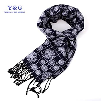 SC1025 Black Spider 100% Silk Jacquard Woven Scarf Gifts Boyfriend By Y&G