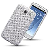 SAMSUNG GALAXY S3 SIII DIAMANTE DISCO BLING BACK COVER BY CELLAPOD CASES FULL SILVERby CELLAPOD