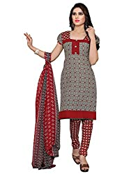 Jinal Fashion women's Cotton Unsitched dress material (Grey_color)