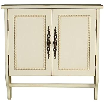 "Chelsea Wall Cabinet, 24""Hx24""Wx8""D, ANTIQUE WHITE"
