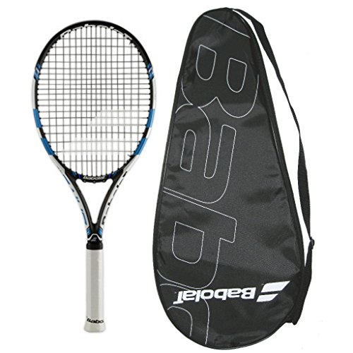 Babolat 2015-2016 Pure Drive Team Tennis Racquet - STRUNG with COVER (4-1/4)