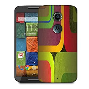 Snoogg Color Wide Designer Protective Phone Back Case Cover For Moto X 2nd Generation