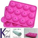 K7plus® Silikon Backform für Popcakes Cake Pops Kuchen am...
