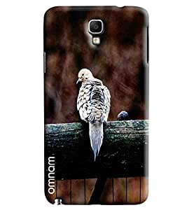 Omnam Piegon Sitting On Wood Printed Designer Back Cover Case For Samsung Galaxy Note 3 Neo