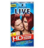 Now in HD,, Red Passion offers extra long-lasting, intense colour and amazing shine, so you can show off your inner confidence with ease. The LIVE Color XXL HD Technology intensively saturates each hair strand for high-definition colour that'...