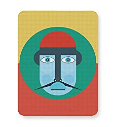 PosterGuy Mouse Pad - Colorful Digital Art Illustration colorful, man, head, digital, art, moustache, funny, graphic, creative, illustration, cartoon.