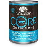 Wellness CORE Natural Grain Free Wet Canned Dog Food, Salmon, Whitefish & Herring Recipe, 12.5-Ounce (Value Pack of 12)