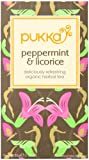 Pukka Organic Peppermint and Licorice 20 Sachets (Pack of 4, Total 80 Sachets)