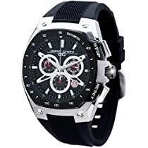 Jorg Gray JG8300-23 Round Watch with Integrated Silicone Straps with Steel buckle