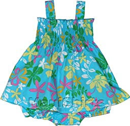 RJC Baby Girls Festive Tropics Elastic Tube Top 2pc Set Turquoise 12 months