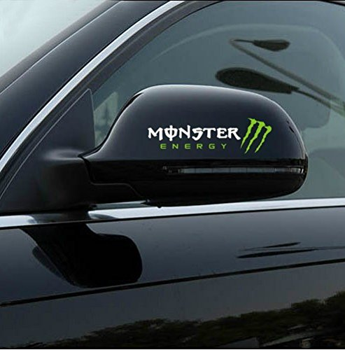 aulyn car sticker 2 pcs monster 3d car rearview mirror decal sticker white 9703080 700064558751. Black Bedroom Furniture Sets. Home Design Ideas