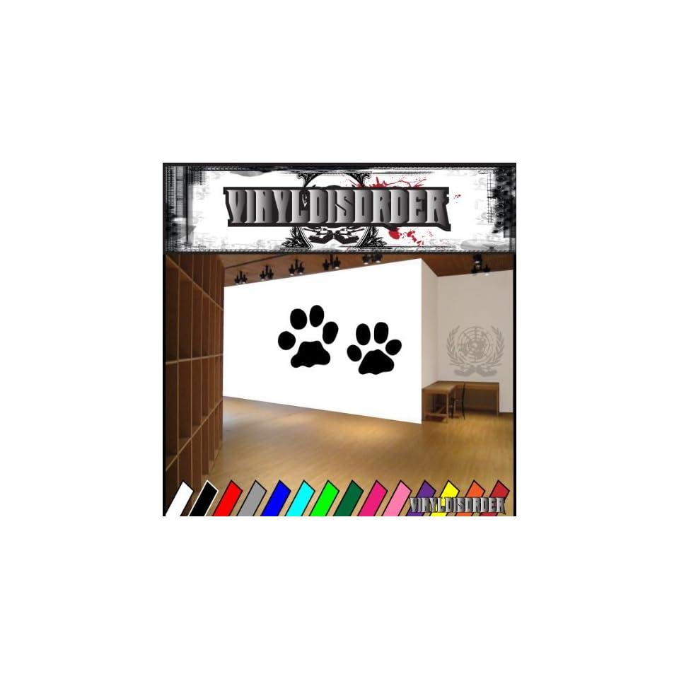 Bobcat Tracks Paws Cat Animal Animals Vinyl Decal Sticker 002