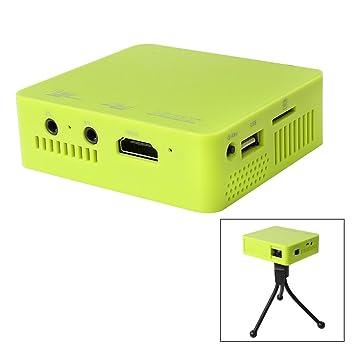 Flylinktech DLP 50W UC50 Mini Vidéoprojecteur Projecteur Portable Avec Batterie Intérieur Interface Entrée SD/AV/USB/HDMI