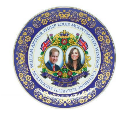 william kate wedding plate. william kate royal wedding