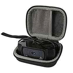 co2CREA Storage Carrying Travel Hard Case Bag Orgnizer for Logitech HD Pro Webcam C920, 1080p Widescreen Video Calling and Recording