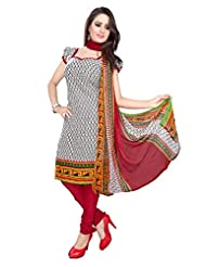 RapidDukan Un-Stitched Grey Color Straight Salwar Suit