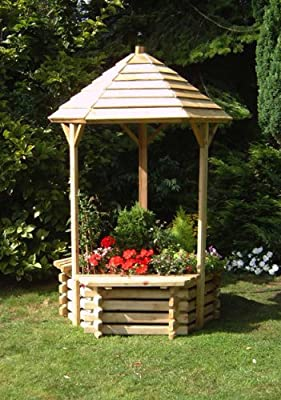 Wooden Garden Wishing Well Planter OGD100