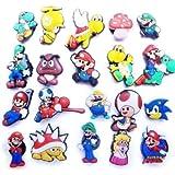 20 pcs Nintendo Super Mario Brothers Shoe Charms / 20 Stück Schuh Charme Schuh Croc Stil Prinzessin Peach, Yoshi, Toad, Luigi, Goomba, Koopa und mehr