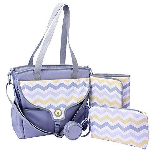 Boppy Golden Diaper Bag, Chevron, Grey/Yellow