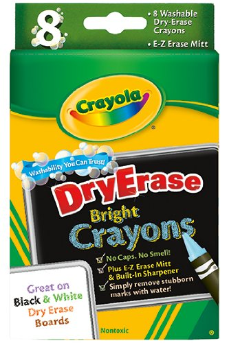Crayola Dry Erase Crayons 8 Count Washable -- Case of 7