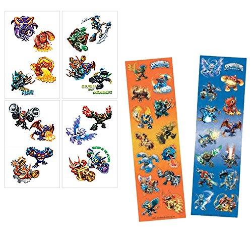 Skylander Birthday Party Goody Bag Favors! Skylander 16ct Temporary Tattoos & Skylander 8ct Sticker Sheets
