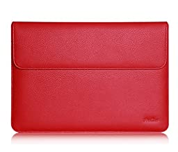 Microsoft Surface Pro 4 Case Sleeve, also fit Surface PRO 3 / Surface 3, ProCase Wallet Sleeve Case for Surface PRO 4 / 3 Tablet Computer, Compatible with Type Cover Keyboard (Red)