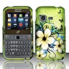 For Samsung S390g (StraightTalk/Net 10/Tracfone) Rubberized Design Cover - Hawaiian Flowers