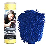 Man Sham Wash Mitt and Original Chamois Car Care Kit Great for Auto Detailing