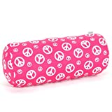 Majestic Home Goods Hot Pink Peace Round Bolster