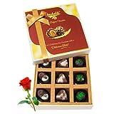 Pralines Combination Of Chocolates With Red Rose - Chocholik Luxury Chocolates