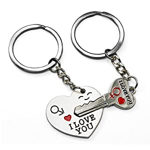 LE Key to My Heart Cute Couple Keychain Love Keychain Key Ring